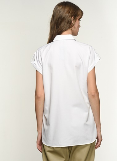 NGSTYLE Ngkss21Gm0013 Apolet Detaylı Gömlek Beyaz
